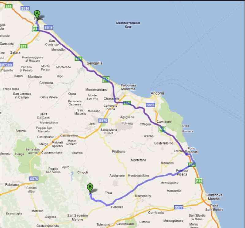 Cartina Stradale Civitanova Marche.Strada Per Scout Park Di San Lorenzo Di Treia Scout Agesci Fano 2